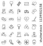 thin line vector icon set  ... | Shutterstock .eps vector #1139502158