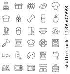 thin line vector icon set  ... | Shutterstock .eps vector #1139502998