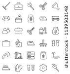 thin line vector icon set  ... | Shutterstock .eps vector #1139503148