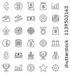 thin line vector icon set  ... | Shutterstock .eps vector #1139503163