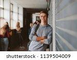 portrait of handsome young... | Shutterstock . vector #1139504009