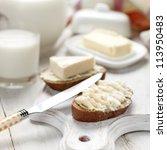 Slice Of Bread With Cream...