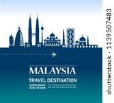 malaysia travel destination | Shutterstock .eps vector #1139507483