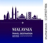 malaysia travel destination | Shutterstock .eps vector #1139507486
