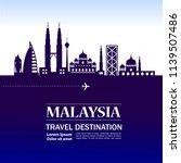 malaysia travel destination | Shutterstock .eps vector #1139507486