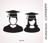 graduation man and woman... | Shutterstock .eps vector #1139508599