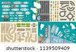 vector set. transport and... | Shutterstock .eps vector #1139509409