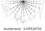 torn semicircular spider web... | Shutterstock . vector #1139518733