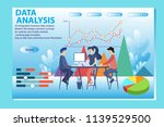 3d infographic business data...   Shutterstock .eps vector #1139529500