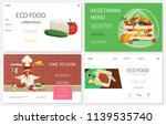 flat healthy food websites set... | Shutterstock .eps vector #1139535740