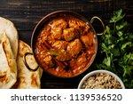 chicken tikka masala spicy...   Shutterstock . vector #1139536520