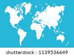 color world map vector | Shutterstock .eps vector #1139536649