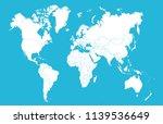 color world map vector | Shutterstock .eps vector #1139536649