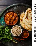 chicken tikka masala spicy... | Shutterstock . vector #1139536853