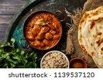 chicken tikka masala spicy... | Shutterstock . vector #1139537120