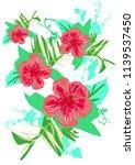 hand drawn tropical vector... | Shutterstock .eps vector #1139537450