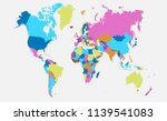 world map vector | Shutterstock .eps vector #1139541083