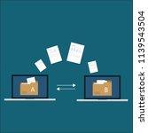 file transfer   data transfer...   Shutterstock .eps vector #1139543504
