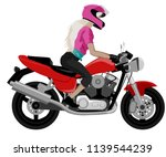 color classic cafe racer... | Shutterstock .eps vector #1139544239