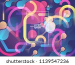geometric background. color... | Shutterstock .eps vector #1139547236