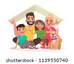 concept of the home of a young... | Shutterstock .eps vector #1139550740
