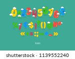 these are funny numbers ... | Shutterstock .eps vector #1139552240