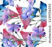 blue flax flower. floral...   Shutterstock . vector #1139556353