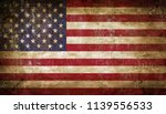 old grunge usa flag | Shutterstock . vector #1139556533