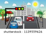 cars  are waiting for traffic... | Shutterstock .eps vector #1139559626