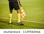 assistant of football referee | Shutterstock . vector #1139560466