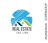 real estate logo design vector... | Shutterstock .eps vector #1139561519