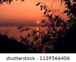 beautiful sunset on ohrid lake | Shutterstock . vector #1139566406