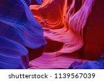 famous antelope canyon near... | Shutterstock . vector #1139567039