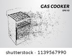 gas stove made of particles.... | Shutterstock .eps vector #1139567990