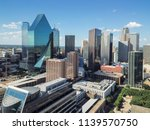 aerial view financial district... | Shutterstock . vector #1139570750