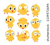 chick vector collection design | Shutterstock .eps vector #1139572694