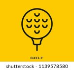 golf icon signs | Shutterstock .eps vector #1139578580