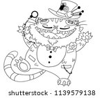 cat cartoon toy line art | Shutterstock .eps vector #1139579138