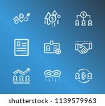 human resource icon set and... | Shutterstock .eps vector #1139579963