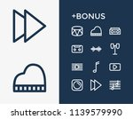 audio icon set and forward with ...
