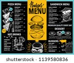 food menu for restaurant and...   Shutterstock .eps vector #1139580836