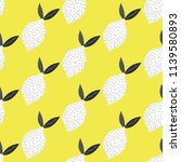 seamless pattern with lemons.... | Shutterstock .eps vector #1139580893