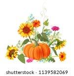 horizontal autumn border ... | Shutterstock .eps vector #1139582069