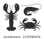 seafood silhouette. isolated... | Shutterstock .eps vector #1139584376