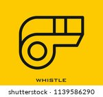 whistle icon signs | Shutterstock .eps vector #1139586290
