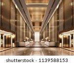 3d rendering luxury lift lobby... | Shutterstock . vector #1139588153
