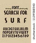 handmade typeface 'surf font'.... | Shutterstock .eps vector #1139588540
