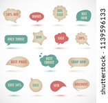 vector stickers  price tag ... | Shutterstock .eps vector #1139596133