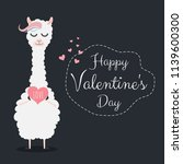 valentine's day card featuring... | Shutterstock .eps vector #1139600300