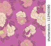 floral  pattern | Shutterstock .eps vector #113960380